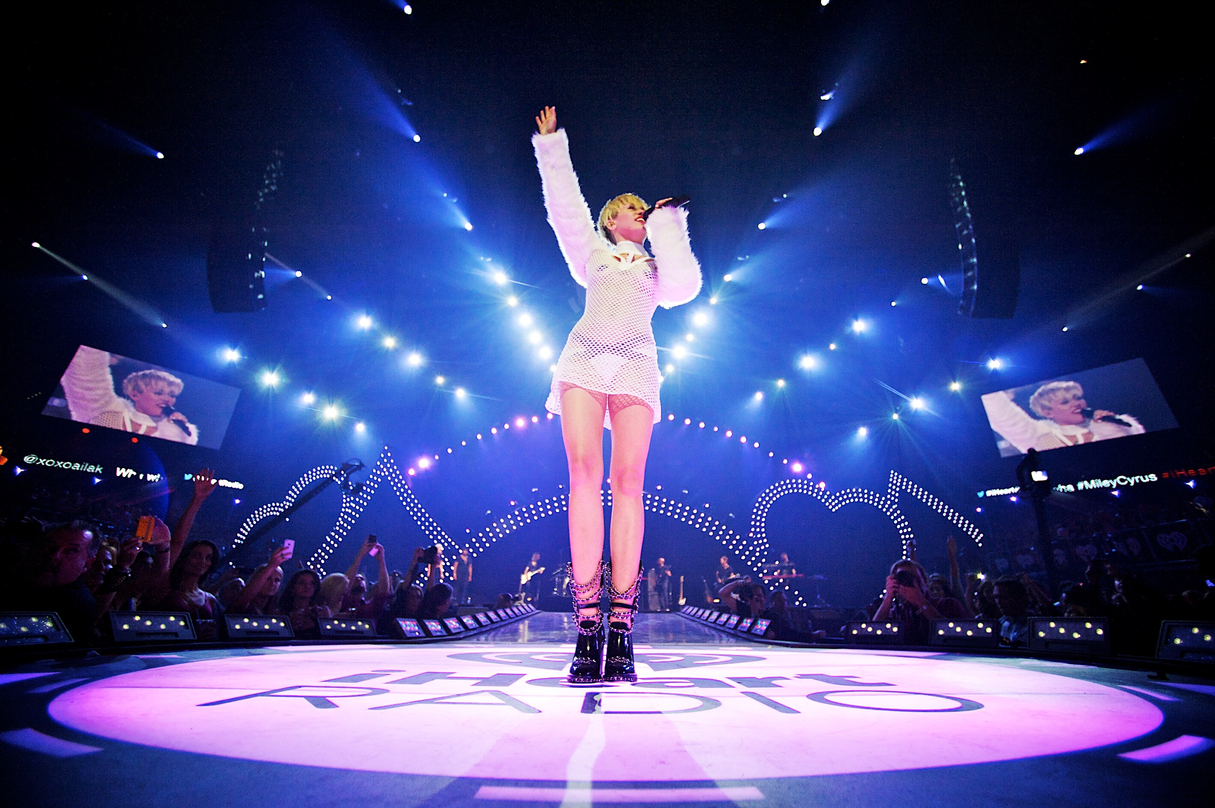 Miley Cyrus performs at the 2013 iHeartRadio Music Festival in Las Vegas, NV.