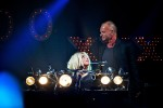 Lady Gaga performs with Sting at the iHeart Radio Music Festival at the MGM Grand, Las Vegas, NV