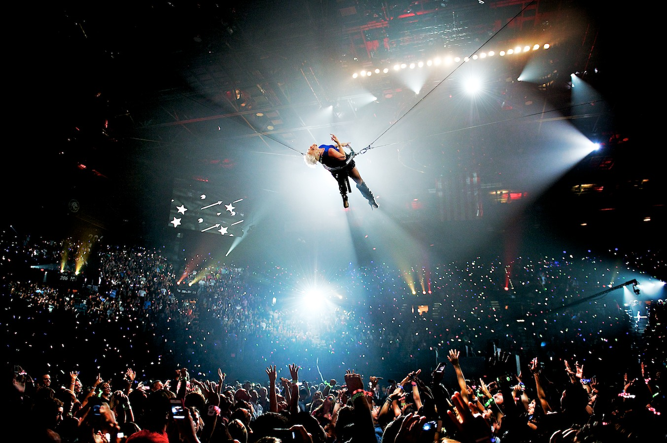 P!nk performs at the 2012 iHeartRadio Music Festival in Las Vegas, NV.