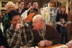 Peter gives notes to Ray on the set of Everybody Loves Raymond