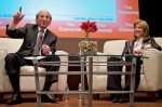 Caroline Kennedy and Joel Klein speak at the Economist Conferences Education 2020 event in NYC