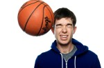 John Mulaney takes a shot to the head in my studio in Brooklyn, NY - shot for his Comedy Central Records CD.
