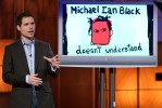 Michael Ian Black tapes his Comedy Central program