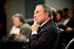 Mayor Michael Bloomberg watches on during the 2009 NYC Leadership Academy graduation ceremony.