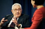 Former Secretary of State Henry Kissinger speaks at The Paley Center for Media
