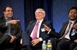 NBA Commissioner David Stern and Indian Premier League Commissioner Lalit Modi speak at The Paley Center for Media