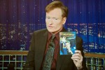 Conan O'Brien shows his audience the Brian Regan DVD, making one big Conan fan a very happy one!