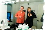 Brian Regan backstage at The Late Show with David Letterman