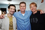Brian Regan backstage with Opie and Anthony