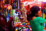 Uighur women shop at market in Khotan, Xinjiang province in China, August, 2010.