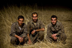 PKK guerilla fighters from left to right: Kazim Siirt, 29, Gorse Mereto, 32, and Serhildan Ruges, 29, in Qandil Mountains, Iraqi Kurdistan, December, 2010. 