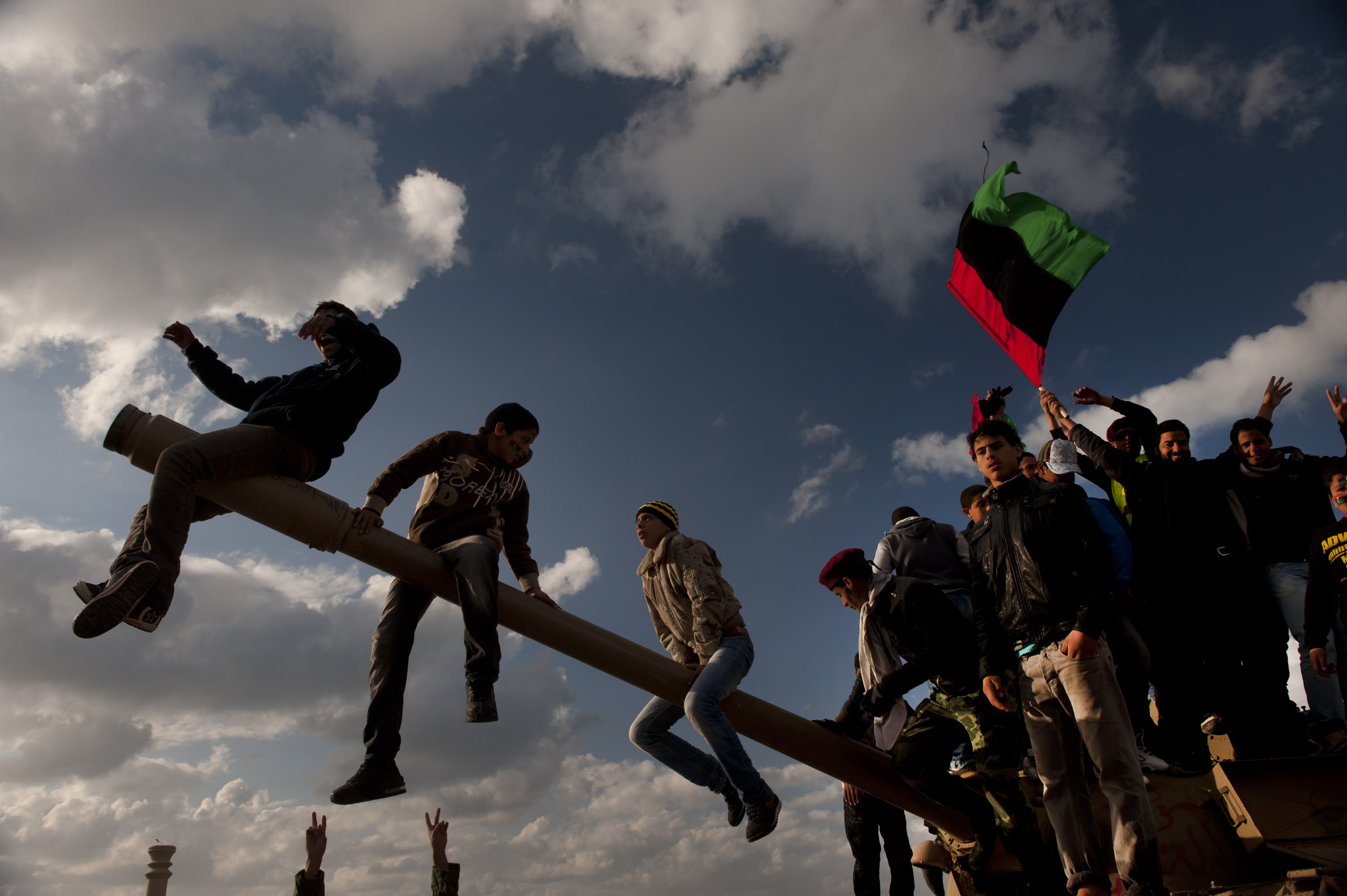 Libyans demonstrate against Colonel Muammar el-Qaddafi, in Benghazi, Libya, February 26, 2011. Dangerous confrontations have been going on between opposition forces and those loyal to Col. Qaddafi across Libya.