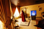 A Saudi woman prays in her home in Riyadh, Saudi Arabia, 2003