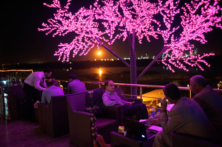 Baghdad's relative calm has lent sparkle to the city's social scene—especially for the wealthy. At the glitzy new Lebanese Club overlooking the Tigris, patrons must check any weapons at the door before enjoying nonalcoholic drinks on the terrace.