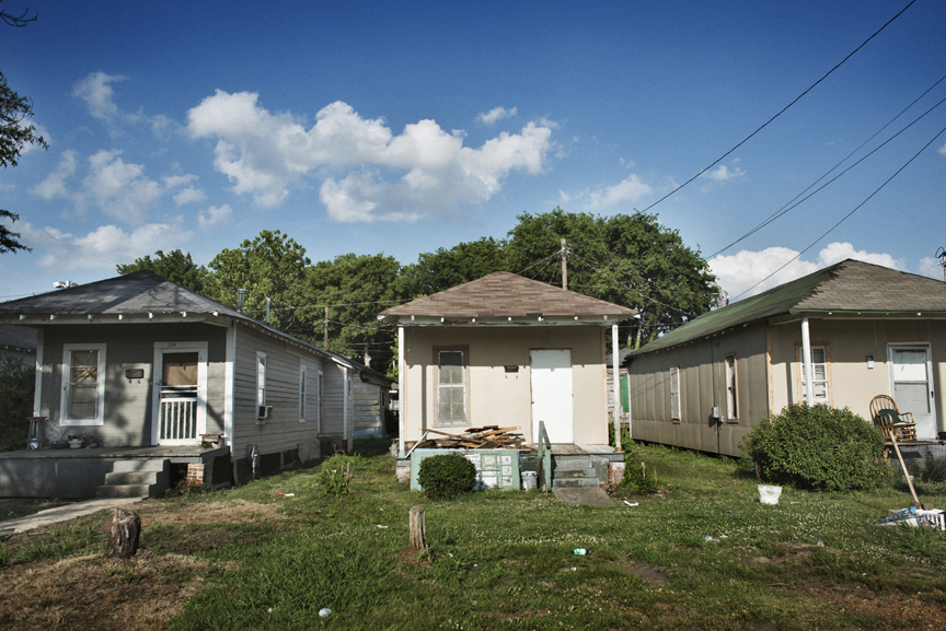 Houses sit crooked and falling down in Baptist town, in the Mississippi Delta, June 3, 2012.   Often linked to poverty and unemployment, Mississippi has some of the highest rates of diabetes, obesity, infant mortality, AIDs, among other ailments, in the country, and though millions of federal funds have been thrown at the problems for years, conditions have only gotten worse.