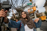 "Amani Al-Khatahtbeh, who founded MuslimGirl.com as a high school senior, shoots a sizzle reel that she plans to use to pitch ideas for a TV show or web series. In 2017 the website, which says it's ""raising the place of Muslim women in mainstream society,"" launched Muslim Women's Day, celebrated on March 27. This year's theme was ""Muslim women talk back to violence."""