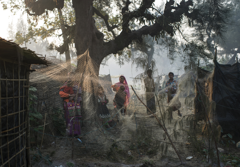 Rohingya live in an informal settlement in Shamlipur, in Bangladesh, January 10, 2016.  The Rohingya are systematically marginalized, and forced into formal and makeshift camps across Bangladesh and Myanmar.  They often occupy hard labor jobs, like riding cycle rickshaws, working in the ice factories, fishing, and manual labor jobs they pick up daily.
