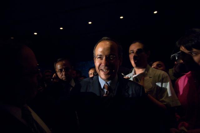 Mexican Presidentian canidate Felipe Calderón