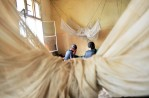 Congolese women who were sexually assaulted sit in a shelter run by Heal Africa in Goma, North Kivu, in Eastern Congo, April 10, 2008. An average of 400 women per month were estimated to be sexually assualted in the autumn of 2007 in eastern Congo, while in the first months of 2008, the figure dropped to an average of 100 women per month. This said, many women never make it to treatment centers, and are not accounted for in these statistics.