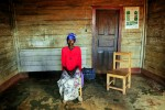 Vumilia, 38, from a village in south Kivu, sits in a center in Walungu, South Kivu, in Eastern Congo, April 14, 2008. Vmulia was kipnapped from her home and held at a military camp for interhamwe for eight months, raped by at least 5 different men, and recently gave birth to a child born out of this rape.  She has seven other children.  An average of 400 women per month were estimated to be sexually assualted in the autumn of 2007 in eastern Congo, while in the first months of 2008, the figure dropped to an average of 100 women per month. This said, many women never make it to treatment centers, and are not accounted for in these statistics.