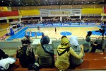 Iranian women sit in the women's section of Adazi Stadium while watching Saba Battery play Peycan in Basketball in Tehran, Iran, December 2005.  Unbenounced to many in Iran and abroad, American basketball players play on teams across Iran, and often dominate the game with their talent.