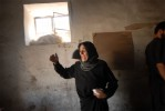 Zaineb Haider weeps over the death of her son, who was a Hezbollah fighter, upon returning to the village of Srifa for the first time since the start of the war over a month ago in South Lebanon, August 15, 2006.   Srifa, mainly a Hezbollah and Amal stronghold, was almost completely decimated by Israeli bombs in the war.