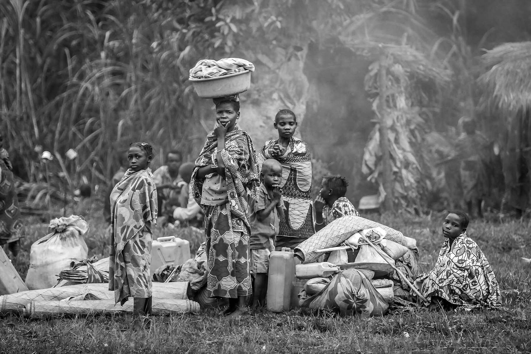 Internally displaced Congolese made a long journey with all their possessions to find a safe haven at a Catholic church in the village of Gety in Ituri region.