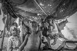 Refugees from South Sudan take a shelter at Nyumanzi Transit Center in Adjumani district of Uganda August 29, 2016. © Jiro Ose
