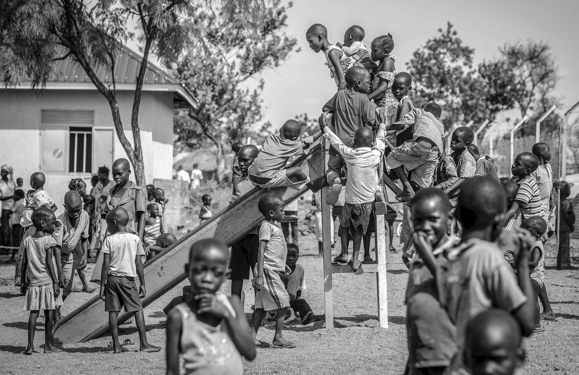 Children in their natural state at a child friend space in Bidoibidi Refugee Settlement in Yumbe district in Uganda 1 March, 2017.