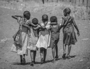 Refugee children walk home together after school in Nyumanzi refugee settlement on 2 March, 2017. Perhaps the next generation of South Sudanese who are learning to peacefully co-exhist can rebuild their nation. © Jiro Ose