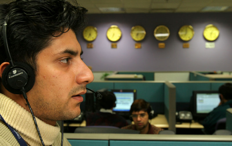 Calls are being answered at Convergys in Gurgaon, outside of Delhi. Convergys is one of the largest outsourcing company, and its world headquarters is in Cincinnati, Ohio,  U.S.A. This service center, which has over 5,000 employees, caters several clients, fielding calls coming from US, UK, and Australia.