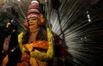 Traditional Hindu festival in progress in Allepay, India.