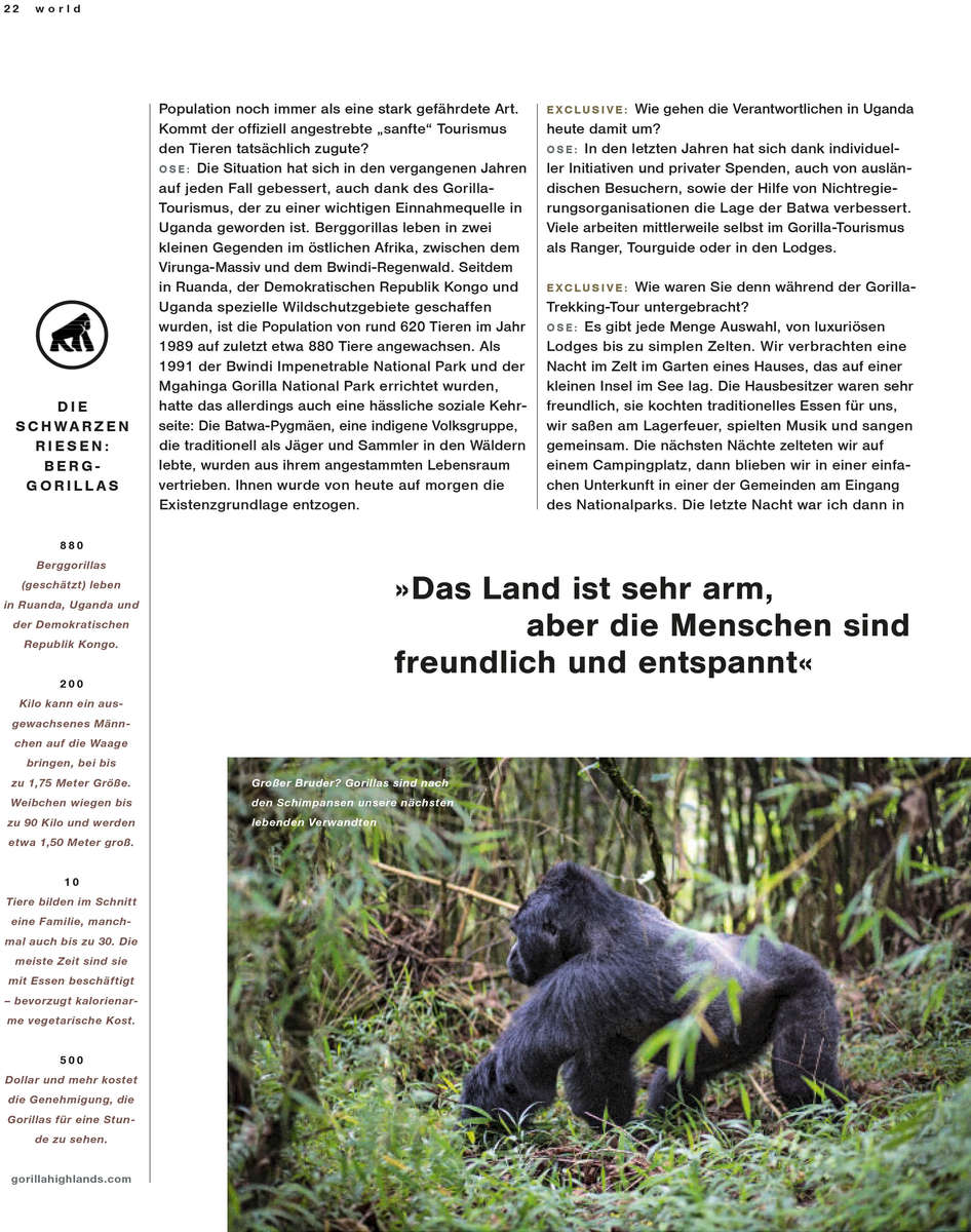 Lufthansa - Mountain Forrest in Uganda 04