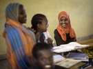 Geasi Ali Farah, 10, attends a special class created for children of pastoralist at Kursa Primary School in Afar Region of Ethiopia 27 November 2013.