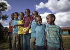 A fashion trend is evident at Oda Aniso Primary School in Oromia Region of Ethiopia 26 November 2013.
