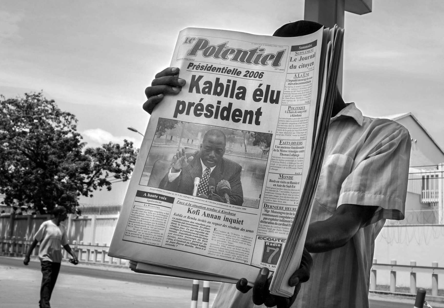 Joseph Kabila was announced as a winner of the presidential election 15 Novemver 2006.