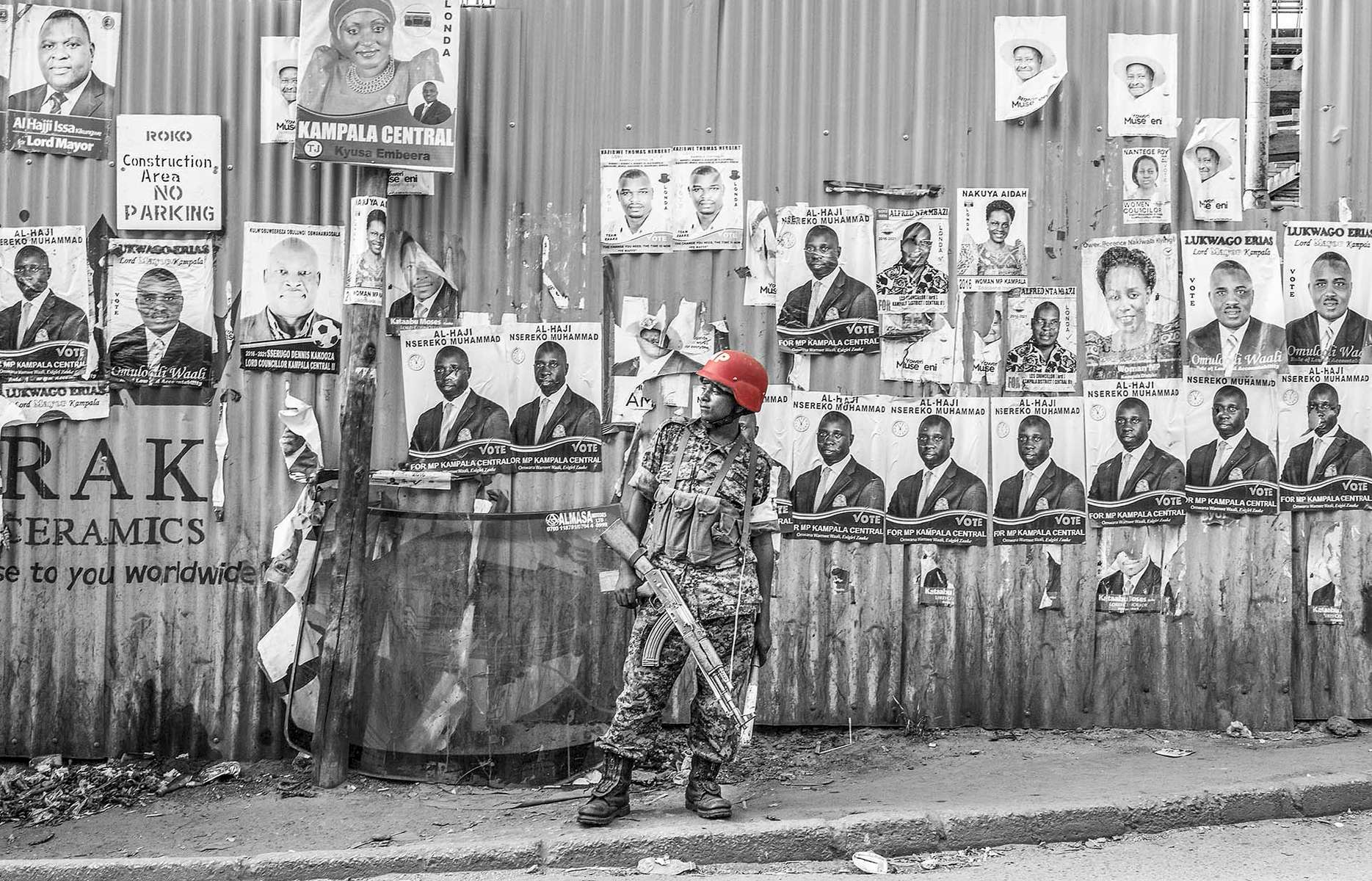 The opposition area was in virtual lockdown before, during and after the announcement of the victory for Yoweri Museveni, Uganda President and National Resistance Movement party presidential candidate, in capital Kampala February 20, 2016. Photo by Jiro Ose