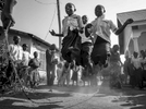 Orphans jump rope in unison at St. Kizito orphanage in Bunia, Democratic Republic of Congo December 8, 2016. Majority of orphans lost their parents due to the conflict in the Ituri region in the eastern DR Congo.