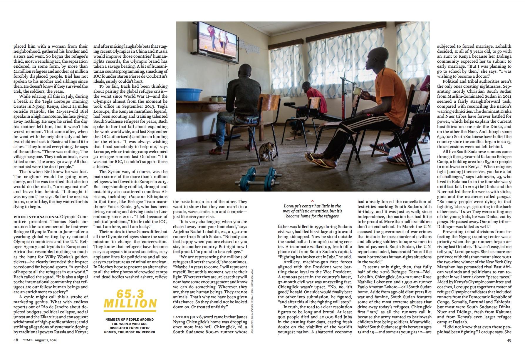 Time Magazine - Refugee Olympians 02