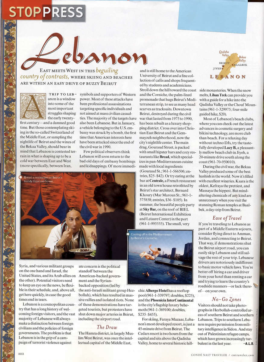 Condenast - Lebanon - Syria
