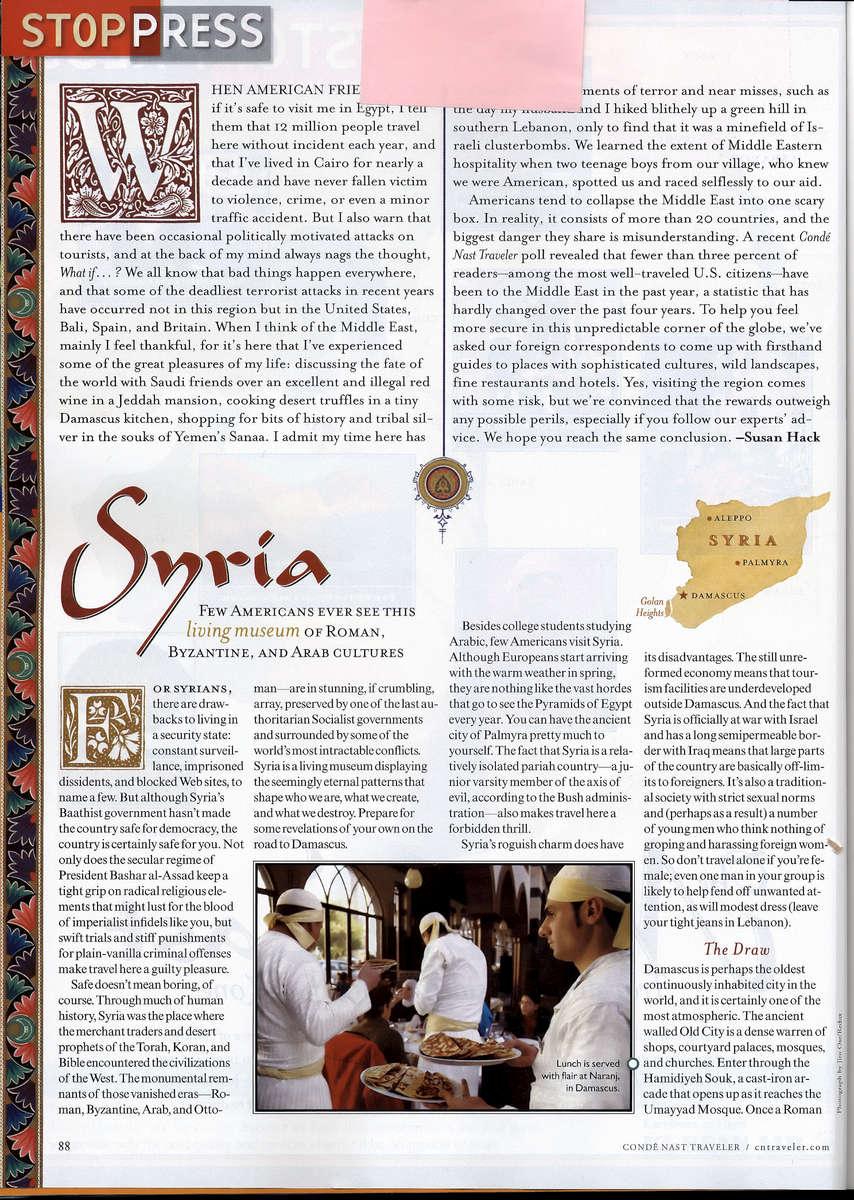 Condenast - Lebanon - Syria 02