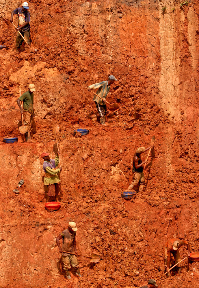 Hardly any machineries are used to extract the gold in most mines in DR Congo.
