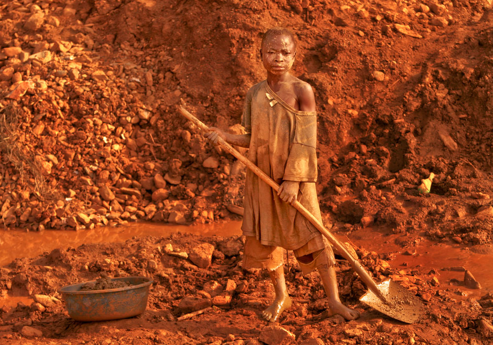 Eric Tanguda doesn't remember his age. He comes to this artisan goldmine in Montgbawalu, Ituri district in the eastern part of Democratic Republic of Congo, to help his family to make ends meet. The troubled and war-torn northeastern region of the country is rich in gold.