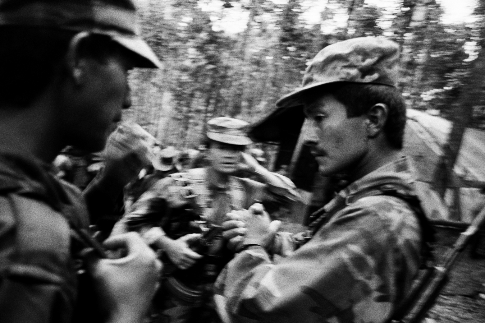 Inside a FARC jungle camp, Caqueta region, Colombia 2001