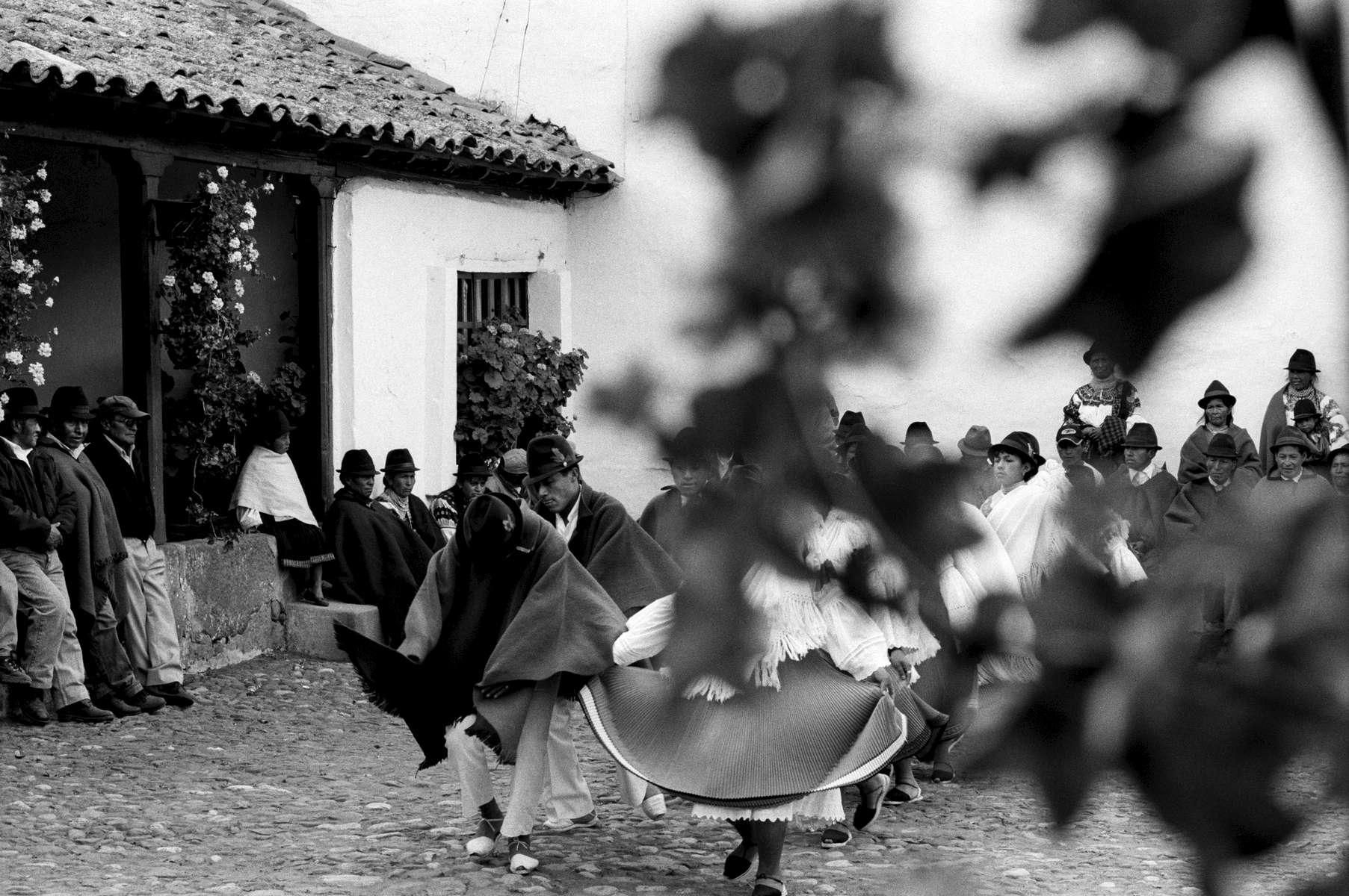 Zuleta Indian dance ceremony, near Mt. Cayambe, Ecuador 2000