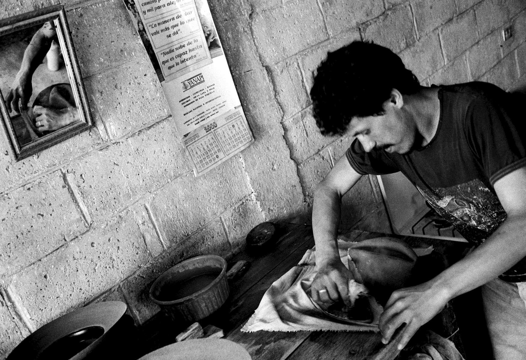 Hat Maker in Ibarra, Ecuador 2001