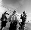 Oregan fly fishermen bone fishing in Christmas Island, Republic of Kiribati 2001