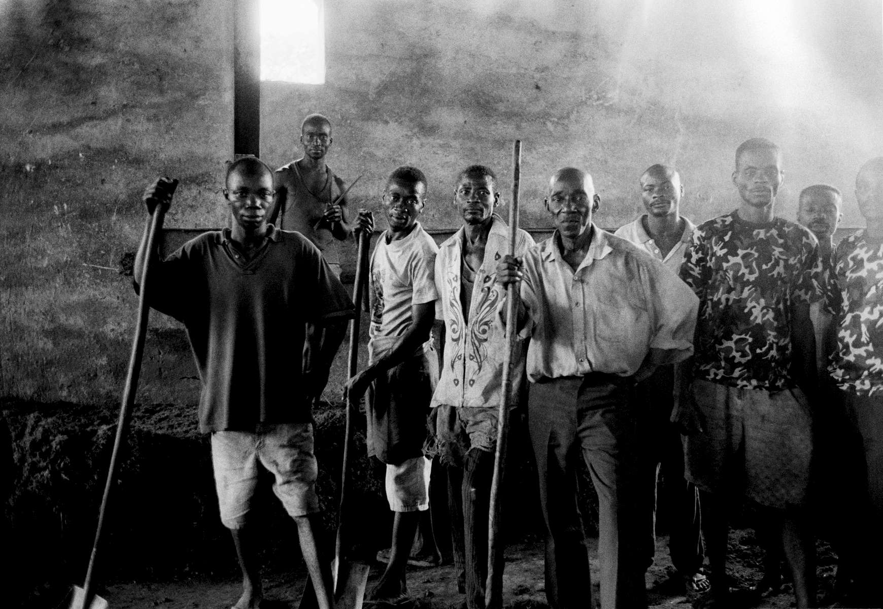 Palm Oil factory workers in Lisafa, DRCongo 2002