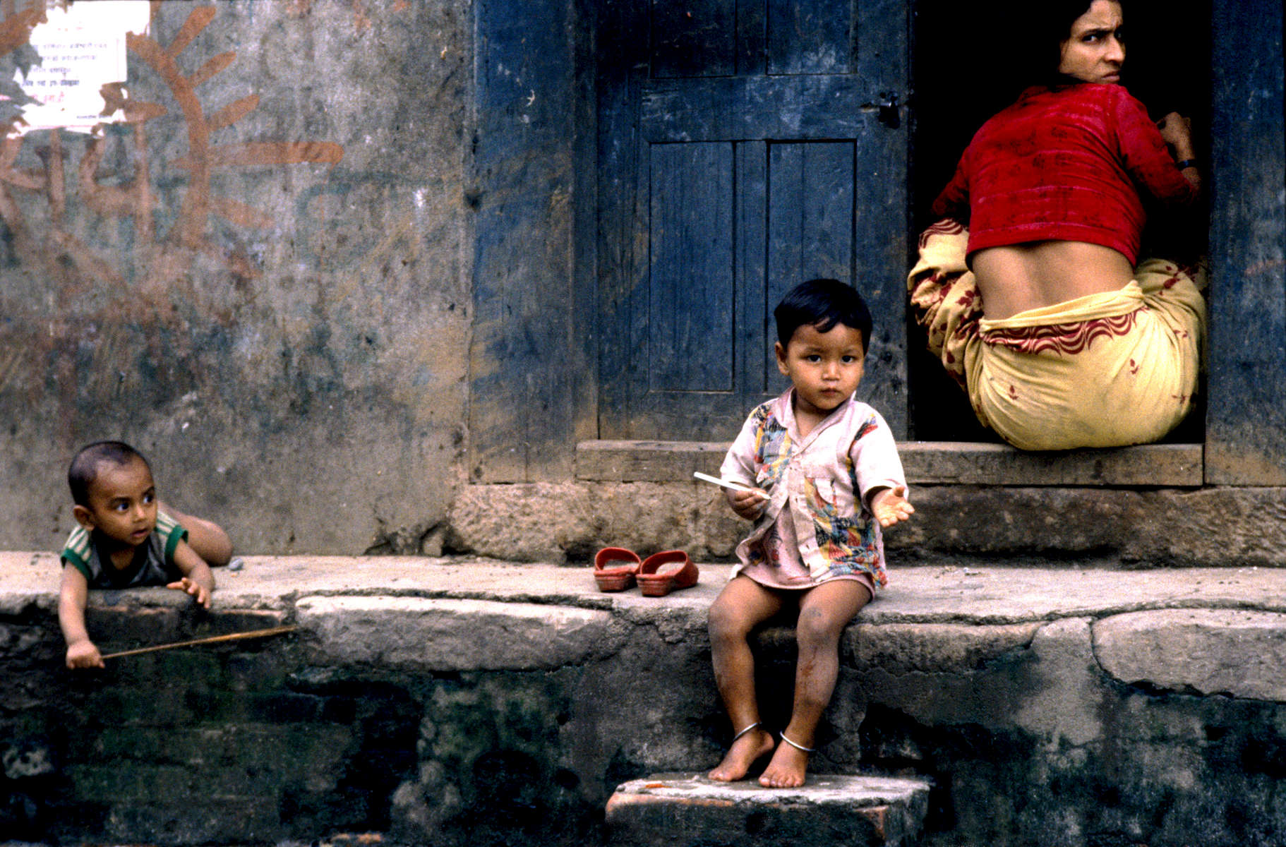 Kathmandu street scene, Nepal 1992