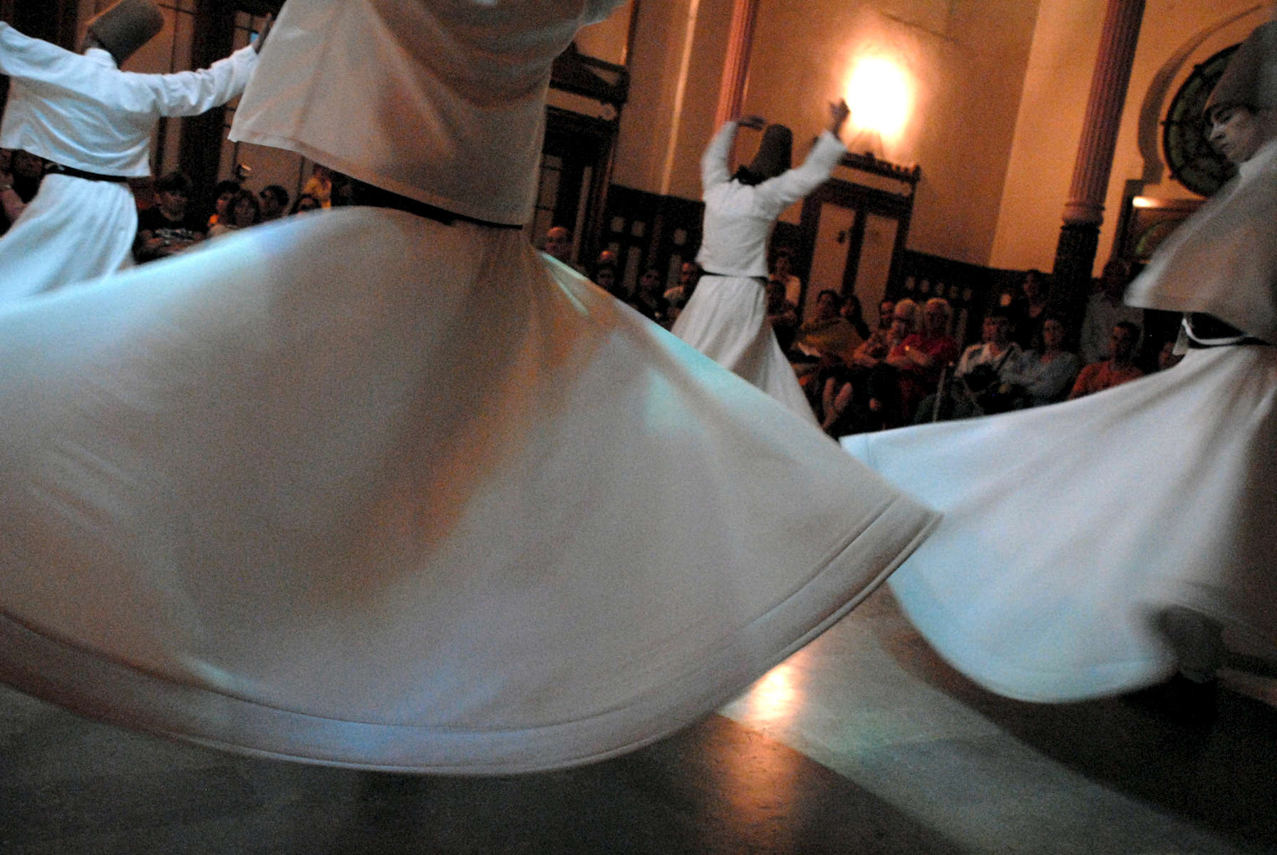 Sufi whirling dervishes in Istanbul, Turkey 2008